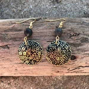 Handcrafted patina earrings